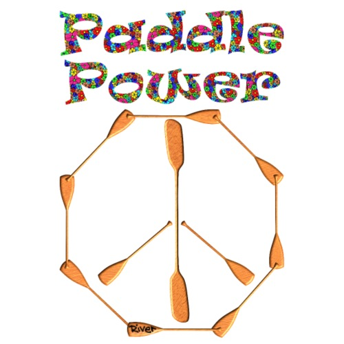 Paddle Power Peace Sign 004 - Männer Premium T-Shirt