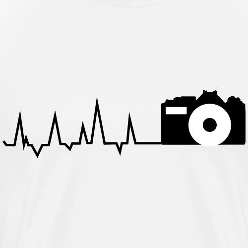Herz für´s fotografieren - Männer Premium T-Shirt