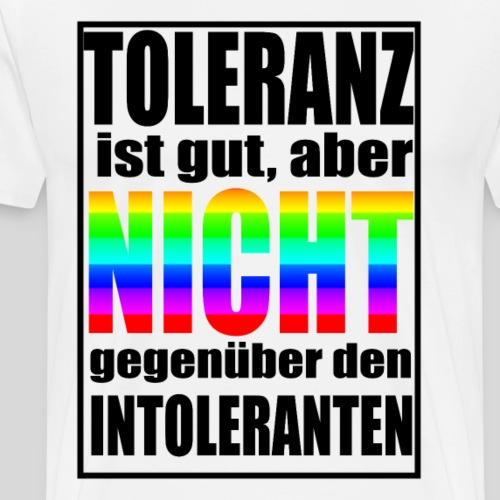 Toleranz - Männer Premium T-Shirt