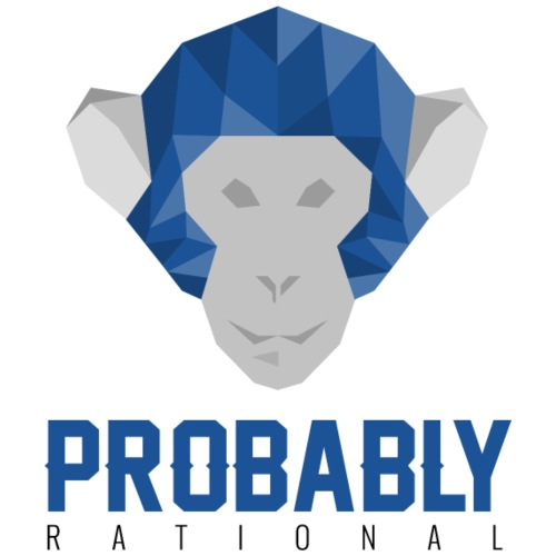 Probably Rational logo - Men's Premium T-Shirt