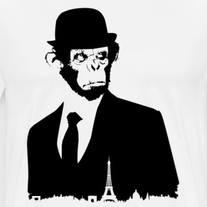 MONKEY BLACK COLLECTION * PARIS * - Herre premium T-shirt