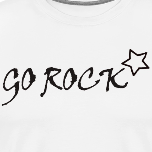 Go Rock Black - T-shirt Premium Homme
