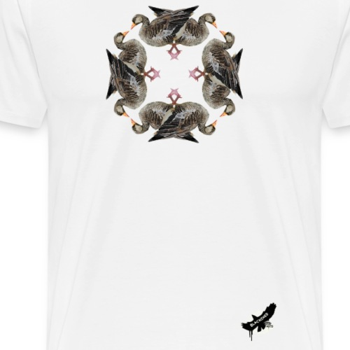 'Goose Circle' by BlackenedMoonArts - Herre premium T-shirt