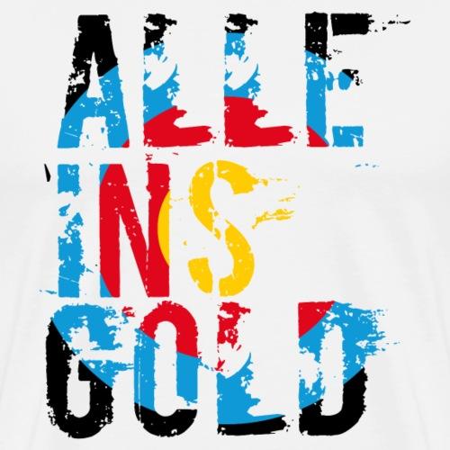 Alle ins Gold (Bogenschiessen by BOWTIQUE) - Männer Premium T-Shirt