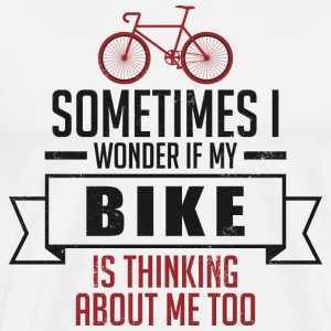 My Bike thinking about me - rad - Männer Premium T-Shirt