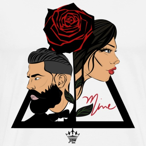 Couple of roses - Männer Premium T-Shirt