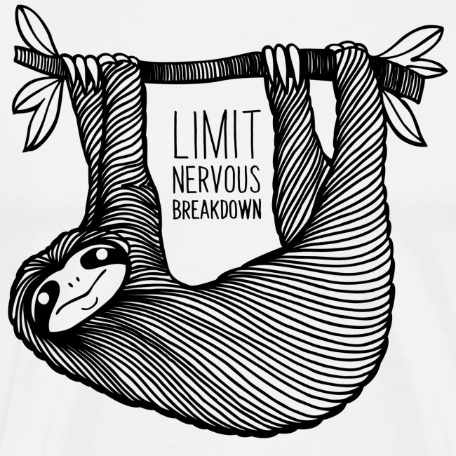 Le paresseux, animal, limit nervous breakdown