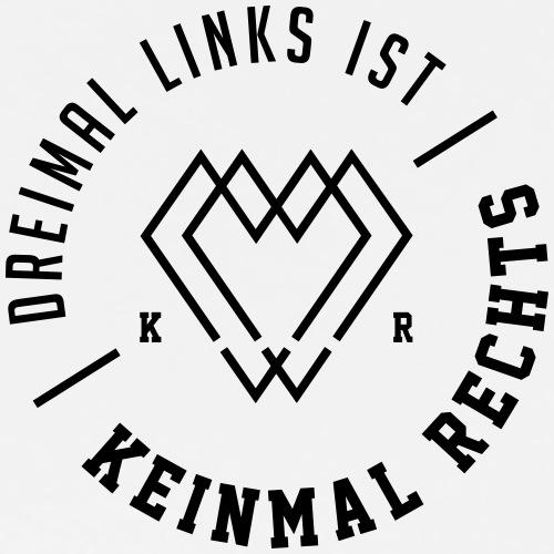 KEINMAL RECHTS LOGO - Männer Premium T-Shirt