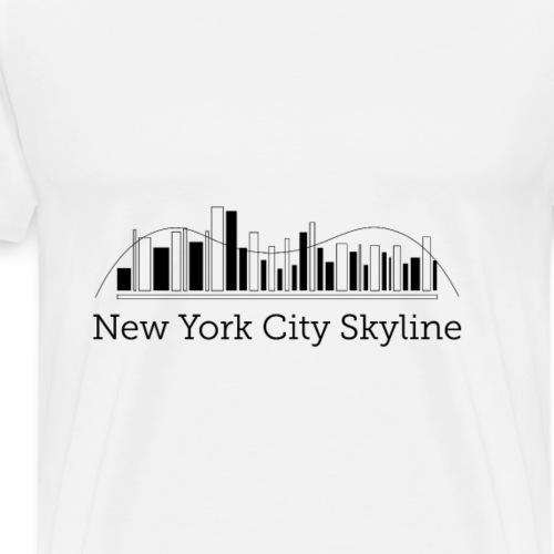 ny skyline - Premium T-skjorte for menn