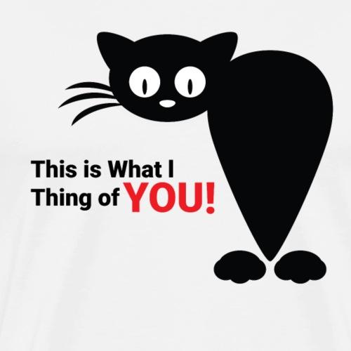 Katze im Cartoon-Design mit lustigem Spruch - Männer Premium T-Shirt