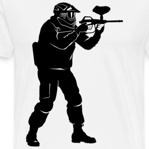 paintball - Mannen Premium T-shirt