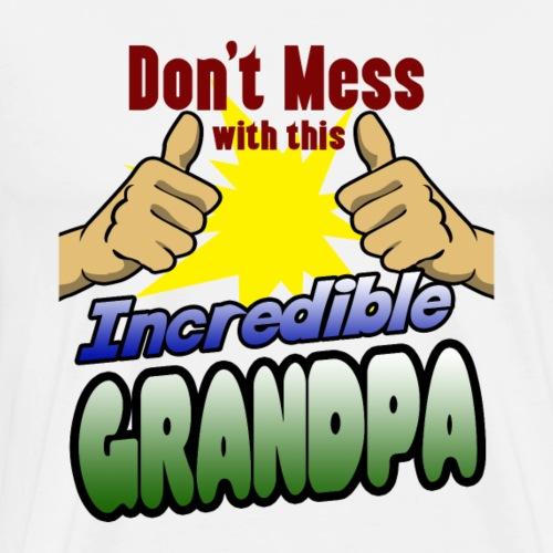 Gift grandfather grandpa grandson grandson superhero dad - Men's Premium T-Shirt