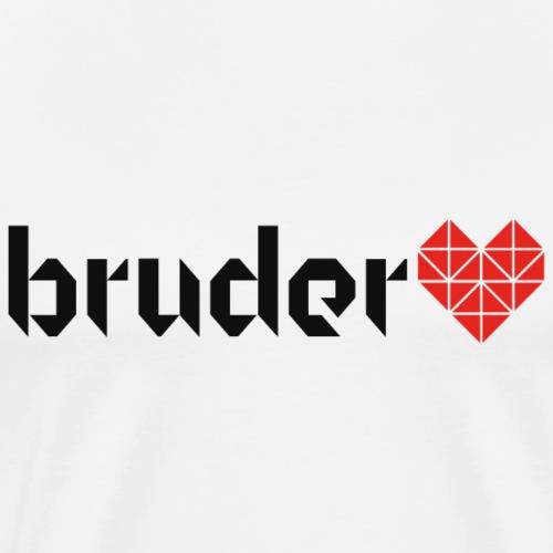 Bruder Herz Origami - Red Edition - Männer Premium T-Shirt