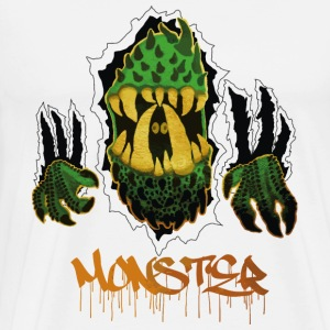 Grön Monster 2k - Premium-T-shirt herr