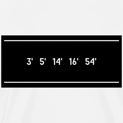 3 '5' 14 '16' 54 ' - Men's Premium T-Shirt