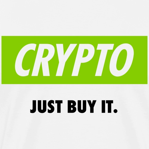 Crypto - Just buy it | Black - Men's Premium T-Shirt