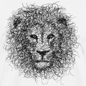 Lion Scribble - Herre premium T-shirt