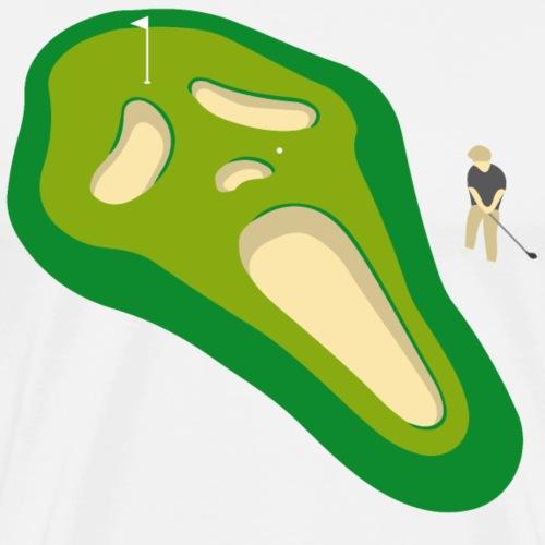 Golf Totenkopf - Männer Premium T-Shirt