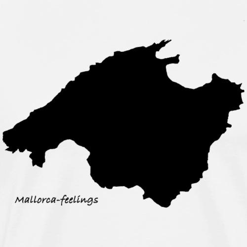 mallorca-feelings schwarz - Männer Premium T-Shirt