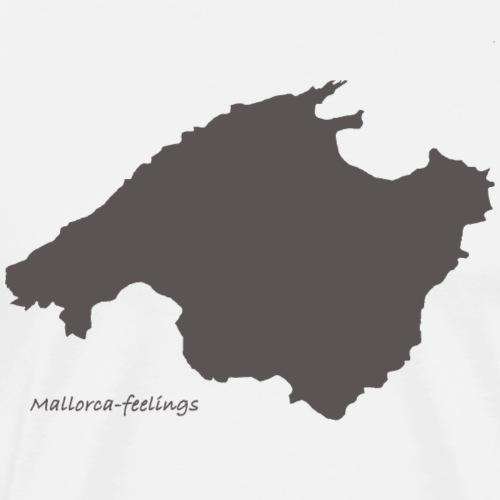 mallorca-feelings grau - Männer Premium T-Shirt