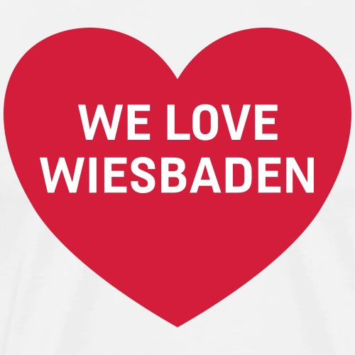 we love wiesbaden - Männer Premium T-Shirt