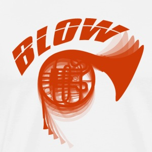 Blow - Alphorn - Music - Men's Premium T-Shirt