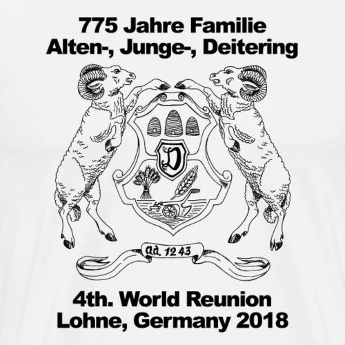 4th. World Reunion Alten-, Junge- and Deitering - Männer Premium T-Shirt