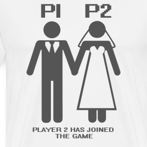 JGA / Bachelor: P1, P2, Player 2 has - Men's Premium T-Shirt