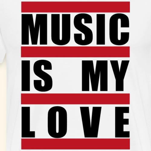 music is my love - Männer Premium T-Shirt