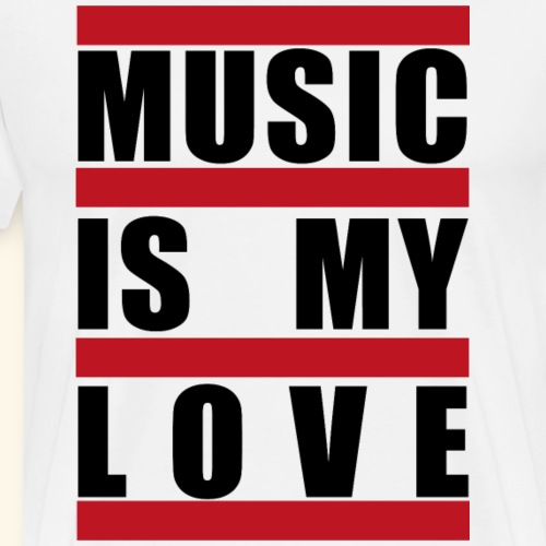 music is my love - Männer Premium T-Shirt