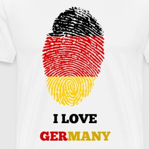 I LOVE GERMANY FINGERPRINT T-SHIRT - Men's Premium T-Shirt
