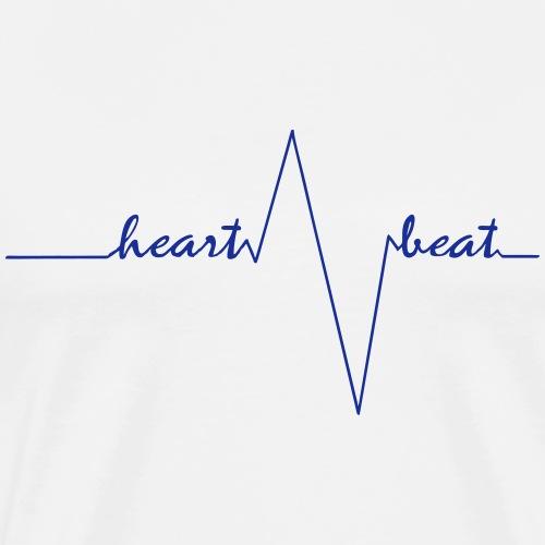 heartbeat deep blue - Männer Premium T-Shirt