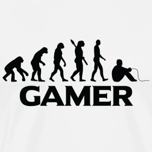 evolution GAMER ZOCKER ZOCKEN bt - Männer Premium T-Shirt