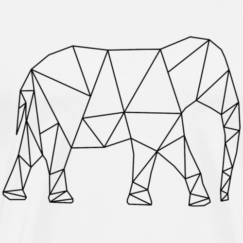 Elefant - Premium-T-shirt herr