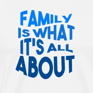 Family - Love - Premium T-skjorte for menn