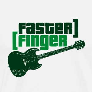 Faster Finger - Music - Men's Premium T-Shirt