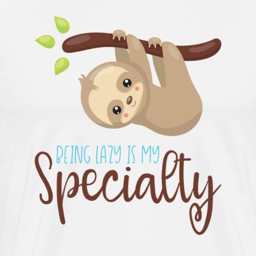 BEING LAZY - Lazybones Geschenk Sloth Shirts - Männer Premium T-Shirt