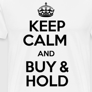 KEEP CALM AND KØB OG HOLD - Herre premium T-shirt