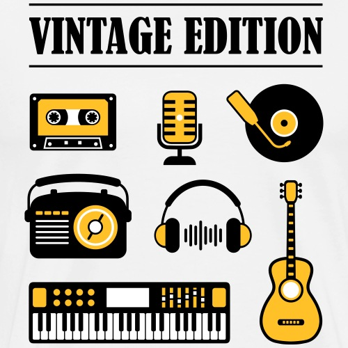 Vintage Edition Music - Men's Premium T-Shirt