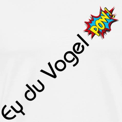 Vogel black - Männer Premium T-Shirt