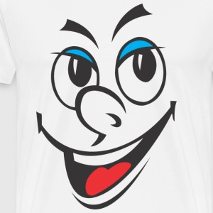 Cartoon Laughing Face - Herre premium T-shirt