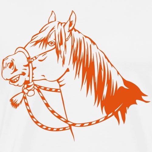 Quarter Horse - Bosal Reiter - Männer Premium T-Shirt