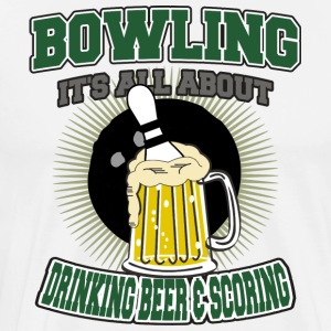 Bowling Beer Et Scoring potable - T-shirt Premium Homme