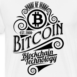 Bitcoin Vintage Design 03 - Men's Premium T-Shirt