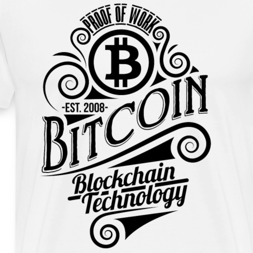 Bitcoin vintage design 03 - Herre premium T-shirt