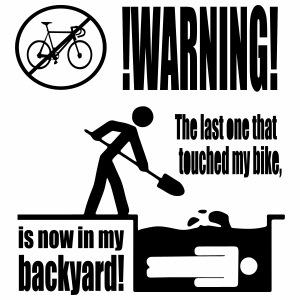 Don't touch my bike - Mannen Premium T-shirt