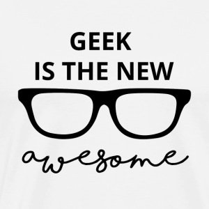 Geek er den nye awesome! - Herre premium T-shirt