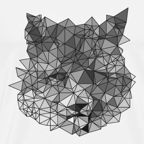 Low Polygon Fuchs Lines - Männer Premium T-Shirt