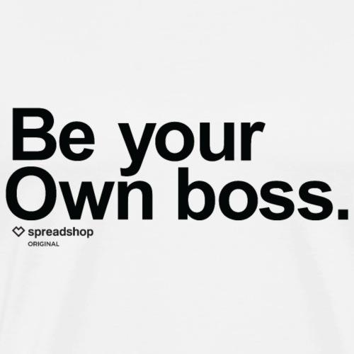 Boss in black - Men's Premium T-Shirt