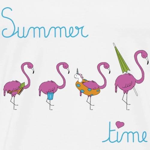 flamants roses à la plage summercontest - T-shirt Premium Homme